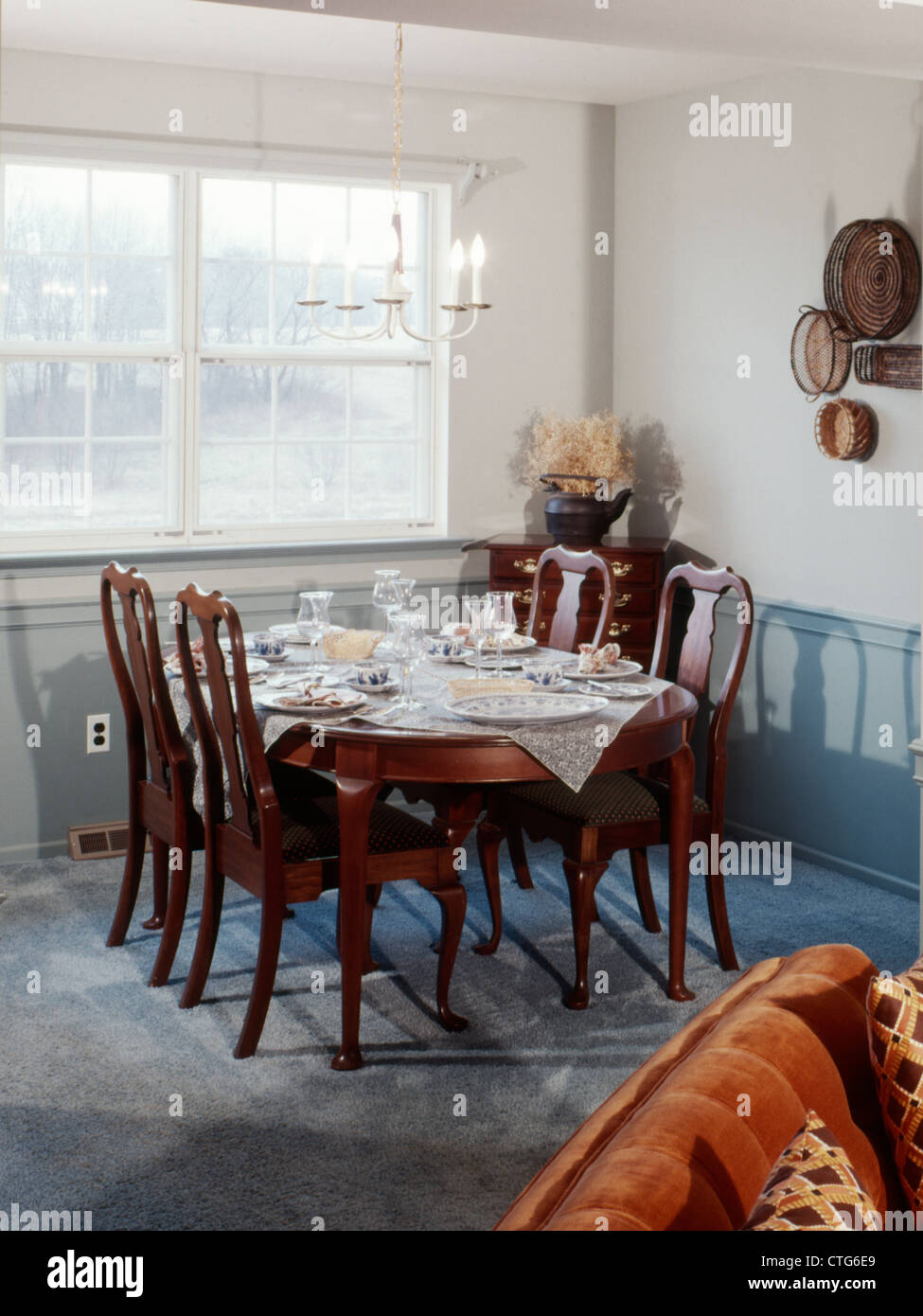 Cool 1970S Dining Room Interior 4 Chairs At Table Set For Meal Cjindustries Chair Design For Home Cjindustriesco