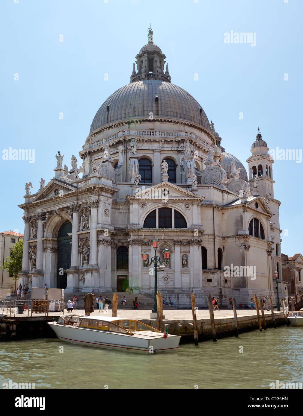 Basilica Santa Maria Della Salute neat to Grand Canal Venice Italy Stock Photo