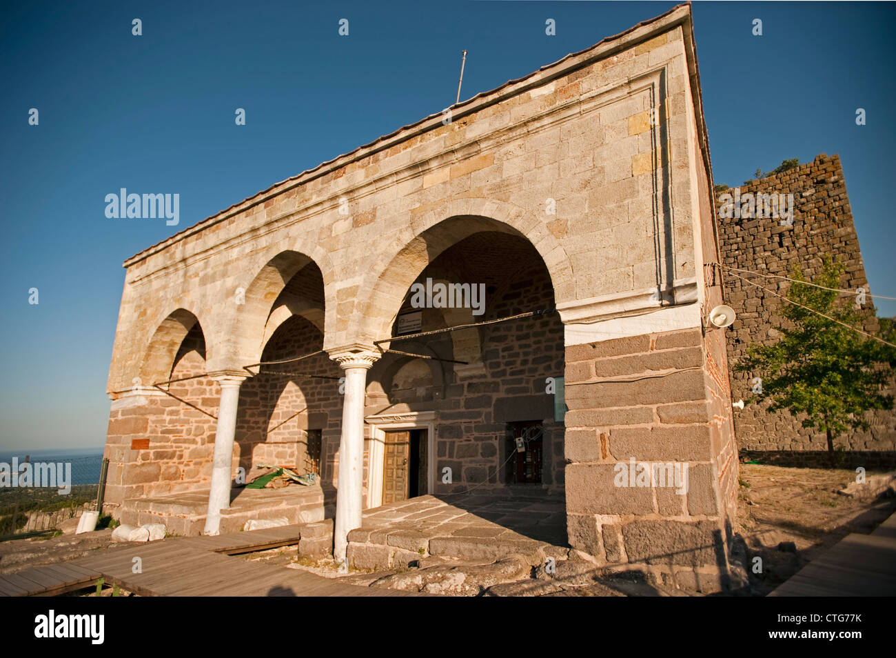 Behramkale Murat Hudavendigar Mosque, Assos ancient city Turkey - Stock Image
