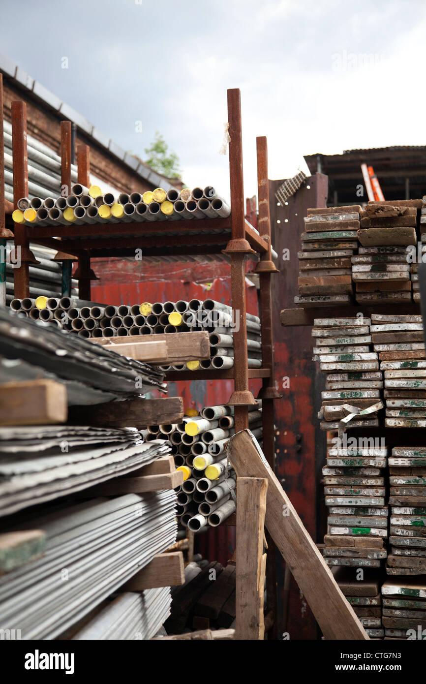 Incroyable Scaffolding Storage   Stock Image