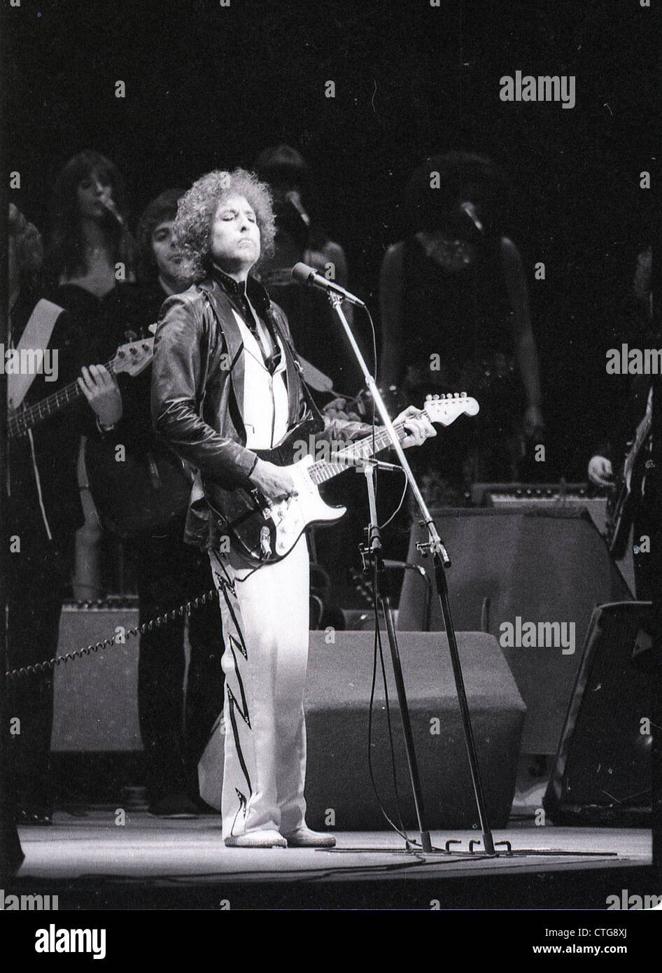 009279 - Bob Dylan in concert at Earls Court, London in June 1978 - Stock Image