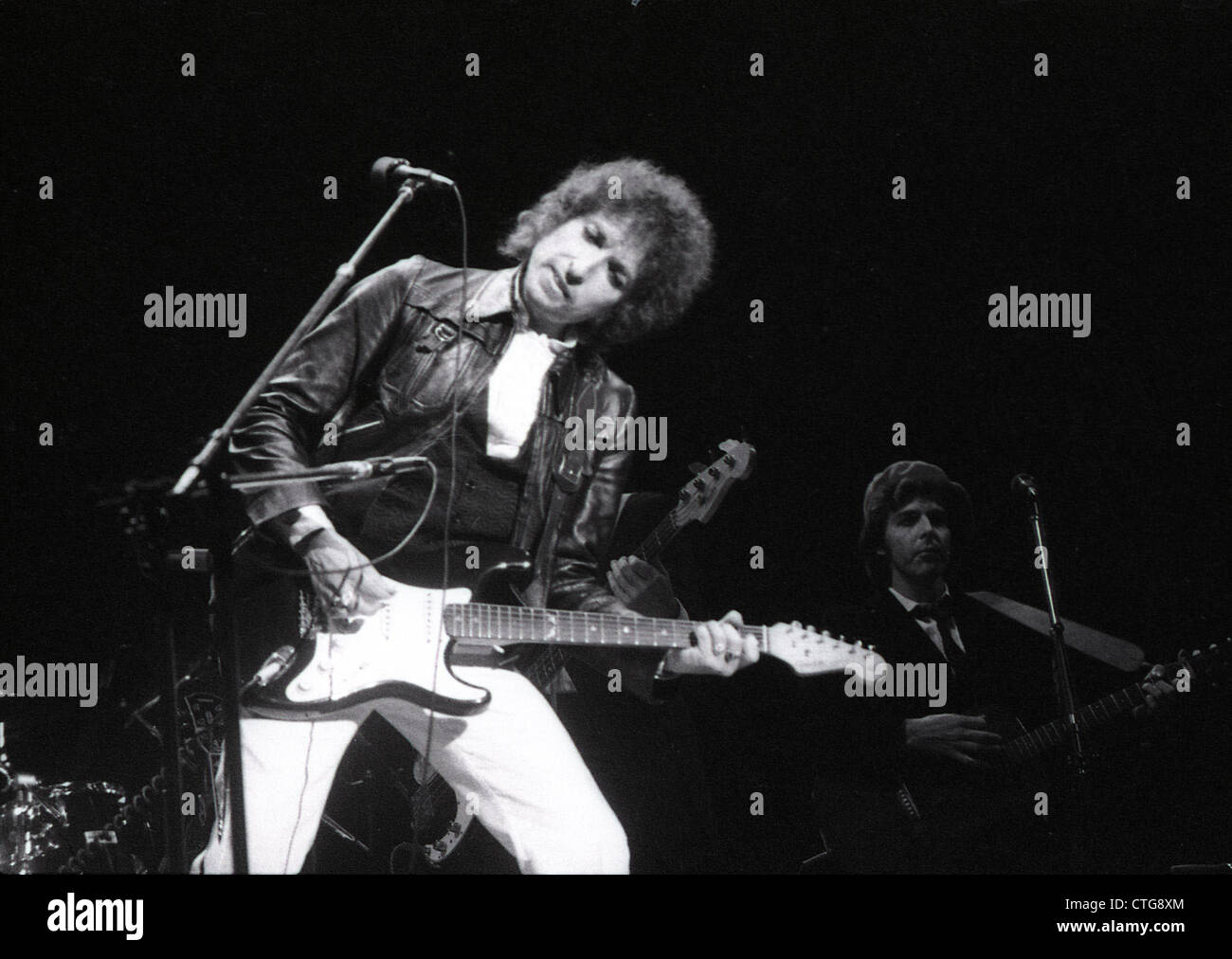 009294 - Bob Dylan in concert at Earls Court, London in June 1978 - Stock Image