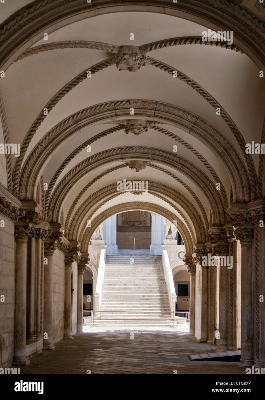 Doge's Palace Saint Marks Square Venice Italy Stock Photo