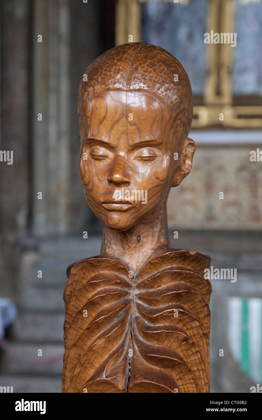 Wooden carving, Durham Cathedral - Stock Image