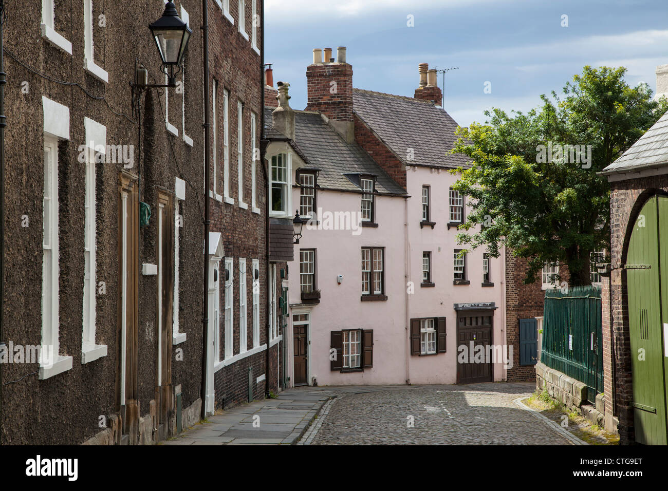 Cobbled street, Durham - Stock Image