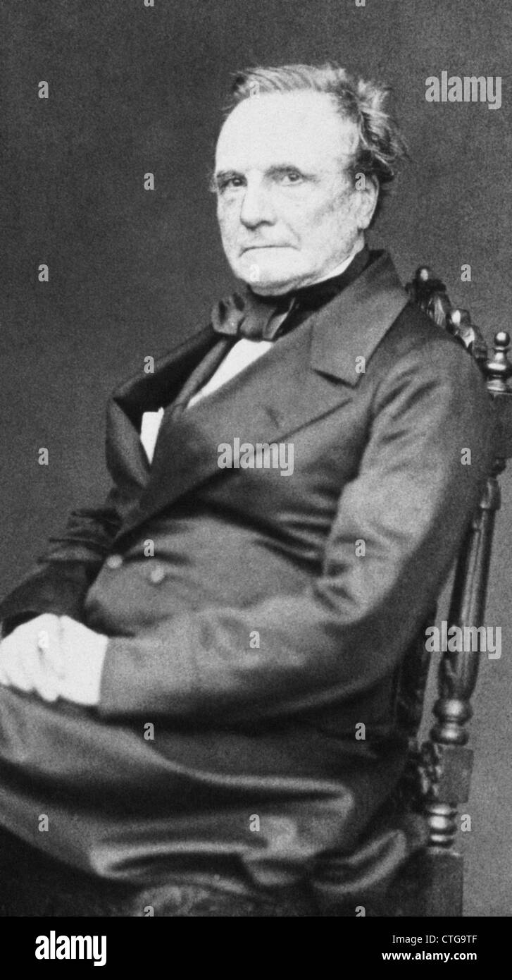 CHARLES BABBAGE (1791-1871) English mathematician and inventor who originated the idea of mechanical computation, - Stock Image