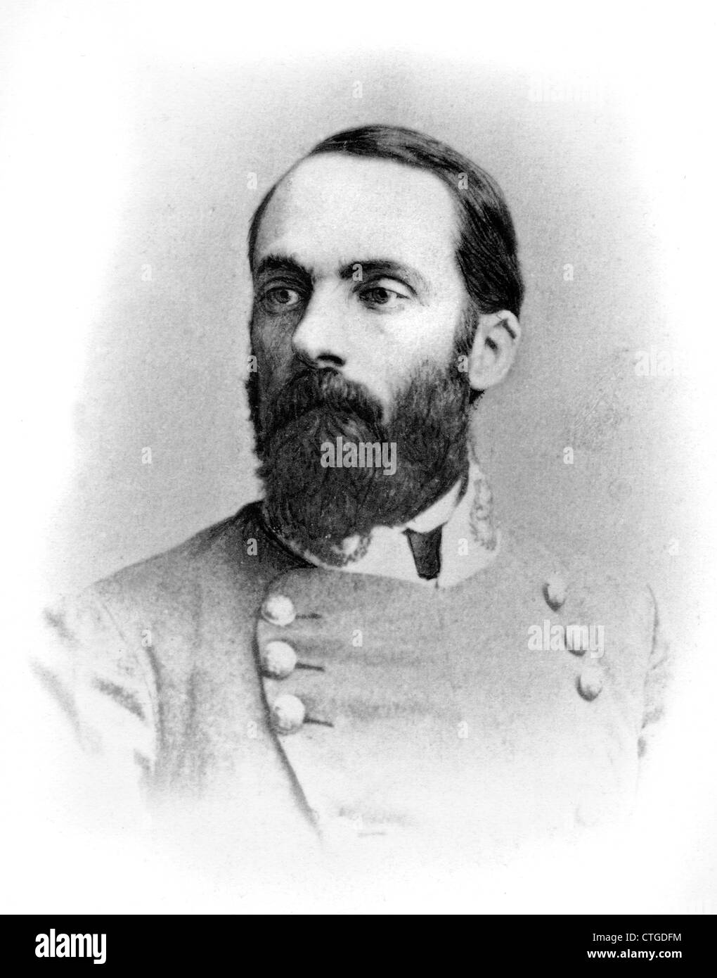 1800s 1860s CONFEDERATE GENERAL JOSEPH WHEELER DURING AMERICAN CIVIL WAR - Stock Image