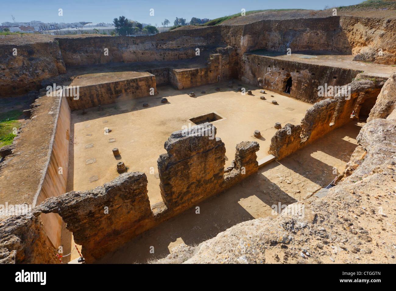The Archaeological Complex, Carmona, Seville Province, Spain. Tumba de Servilia, the Tomb of Servilia. - Stock Image