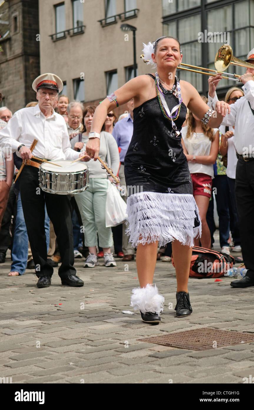 Edinburgh Jazz Festival Mardi Gras - Criterion Parade Band. - Stock Image