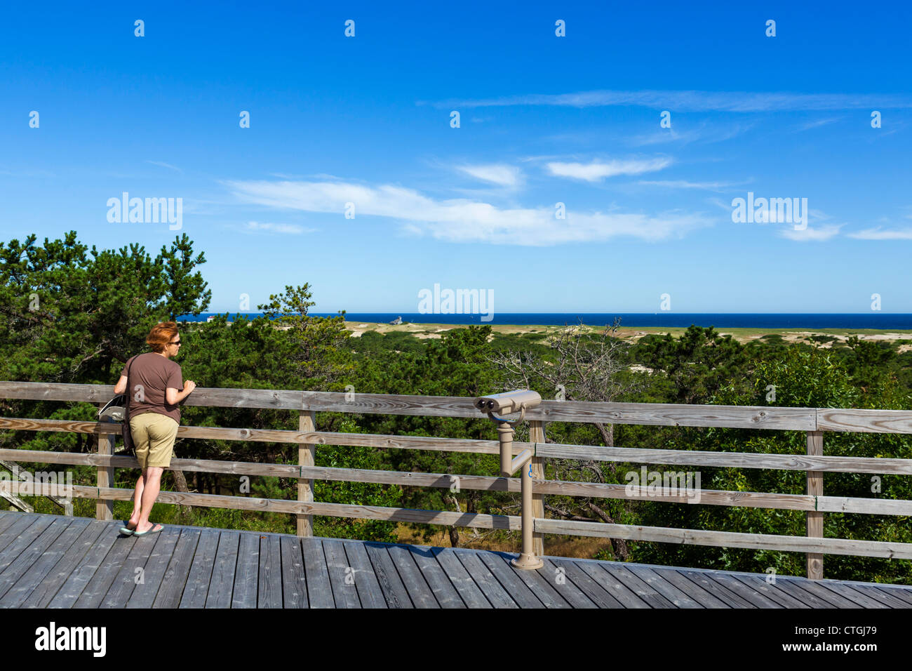 View from the terrace of the Province Lands Visitor Center, Cape Cod National Seashore, Cape Cod, Massachusetts, - Stock Image