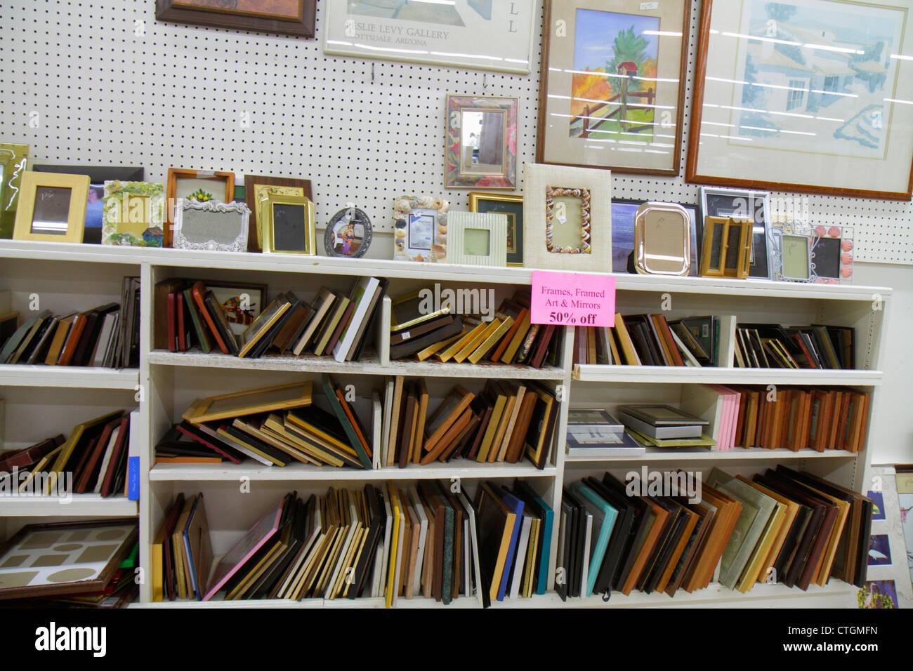 Vero Beach Florida Humane Society Thrift Shop Charity Interior Stock Photo Alamy