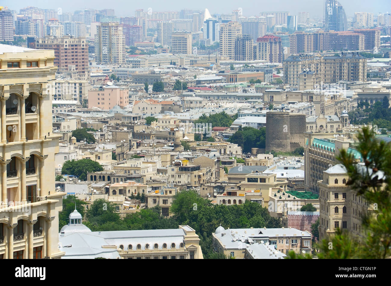 View of Baku city - capital of Azerbaijan - Stock Image