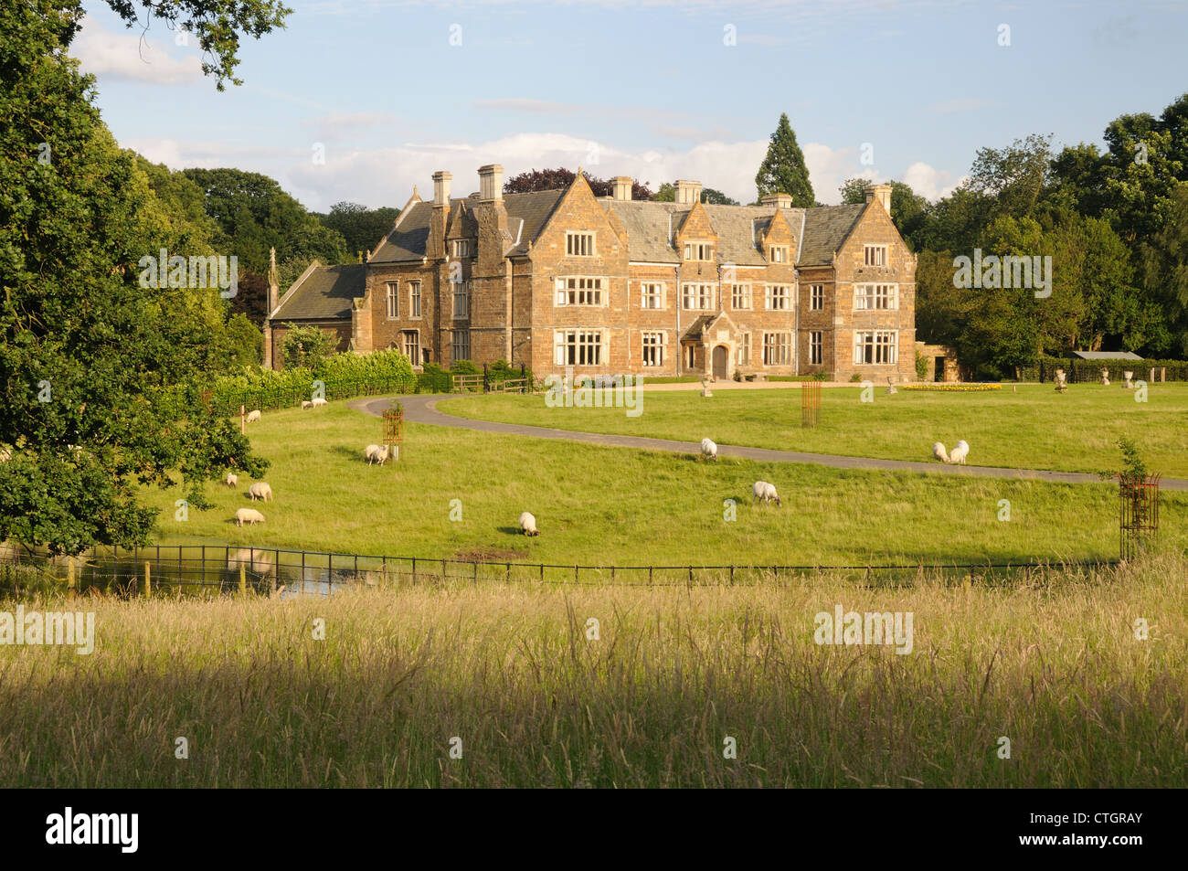 Launde Abbey - incorporating the monastic remains of Launde Priory - in Launde, Leicestershire, England - Stock Image