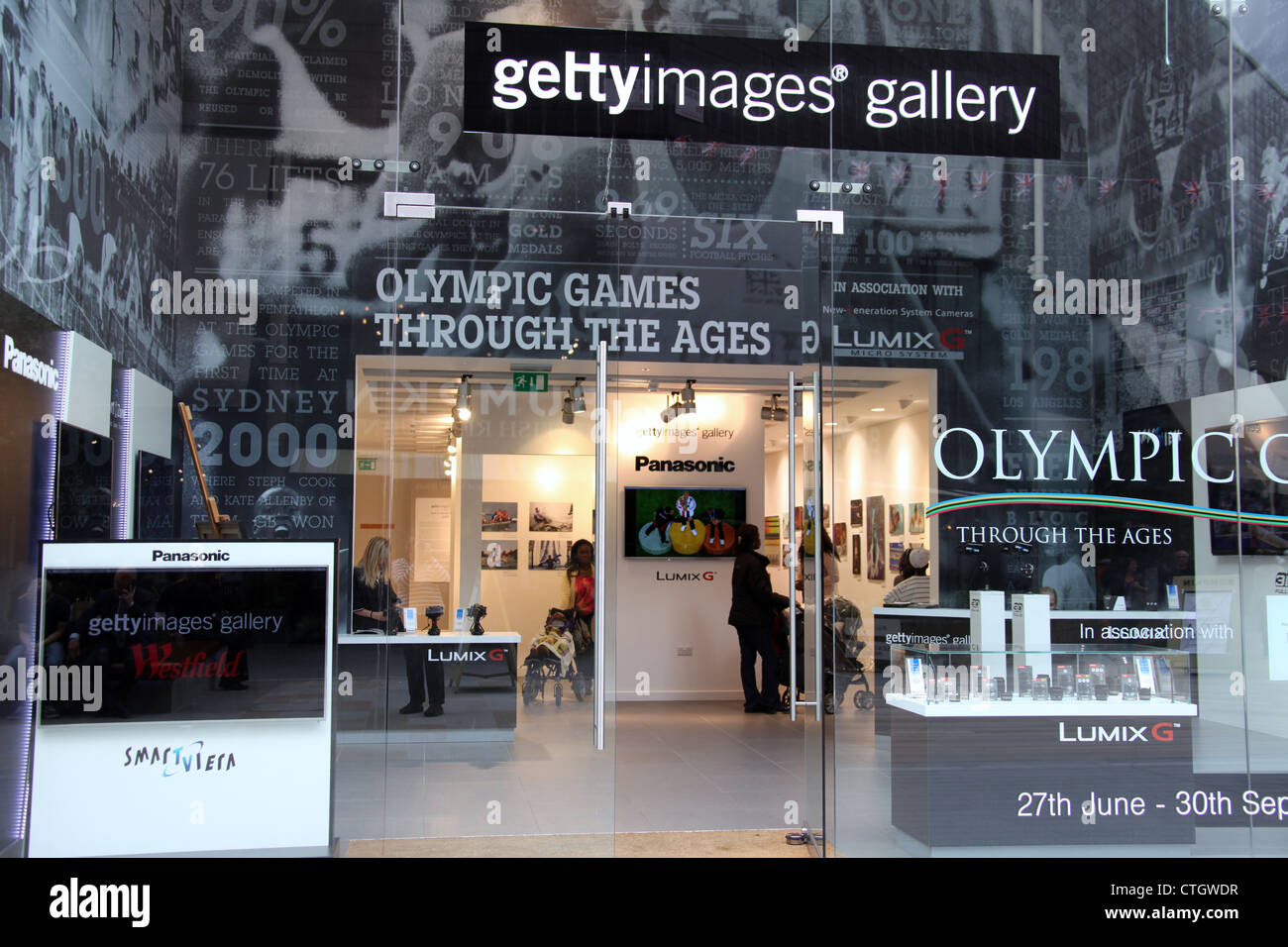 Getty Images Gallery at Westfield Stratford City in London - Stock Image