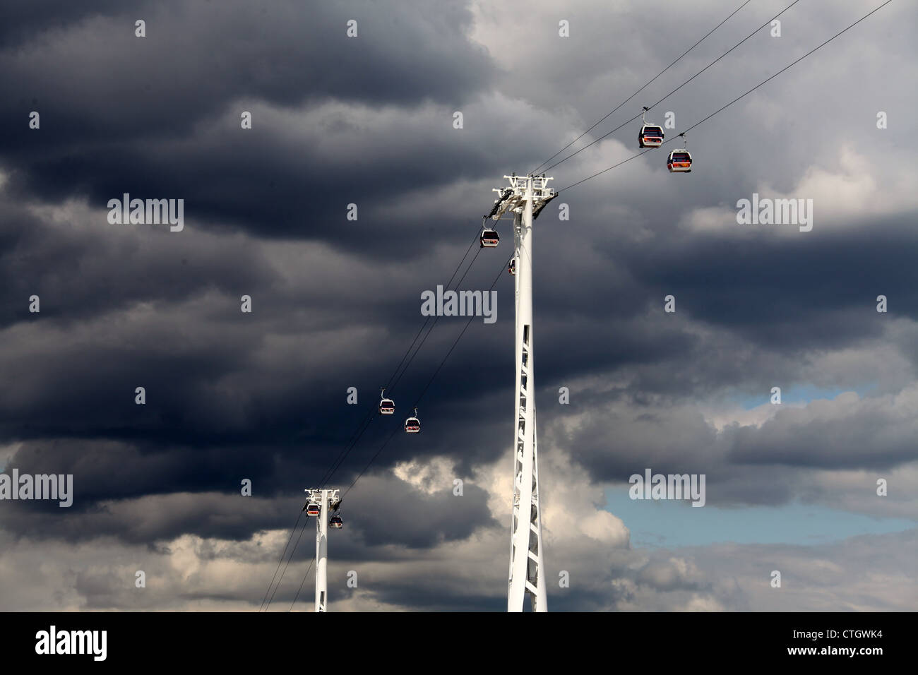 Emirates Air Line which is also known as the Thames Cable Car Stock Photo