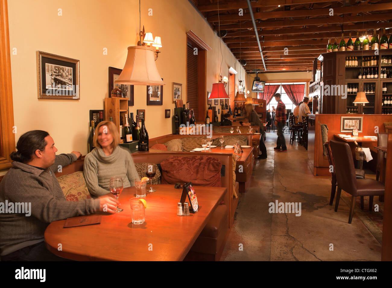 diners, Cafe Fiore, Ventura, California, United States of America - Stock Image