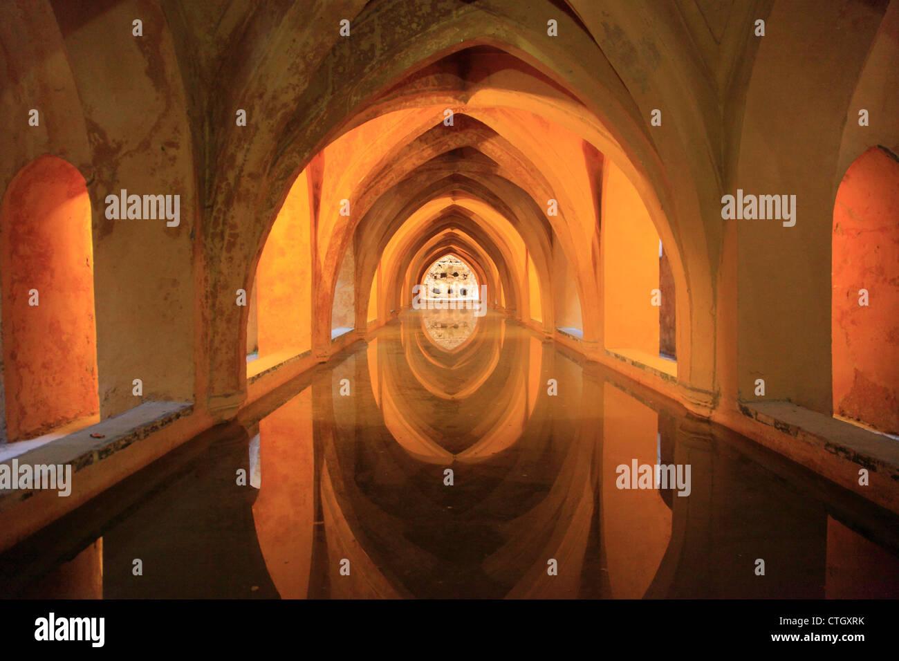 Spain, Andalusia, Seville, Alcazar, Baths of Dona Maria de Padilla, Stock Photo