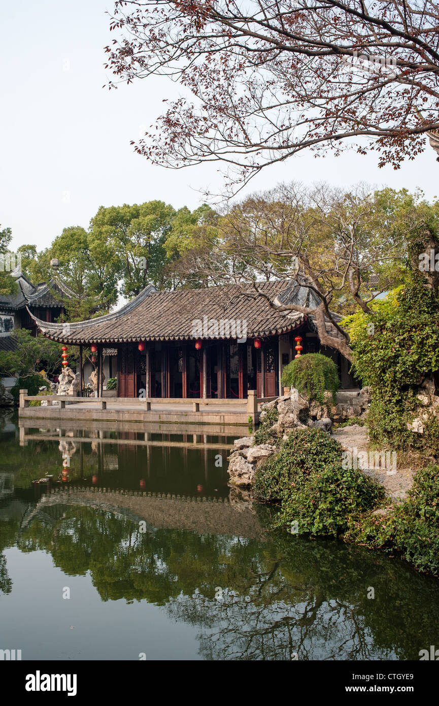 Tuisi garden built in 1885, is one of the world cultural heritage, Tongli of Suzhou, China Stock Photo