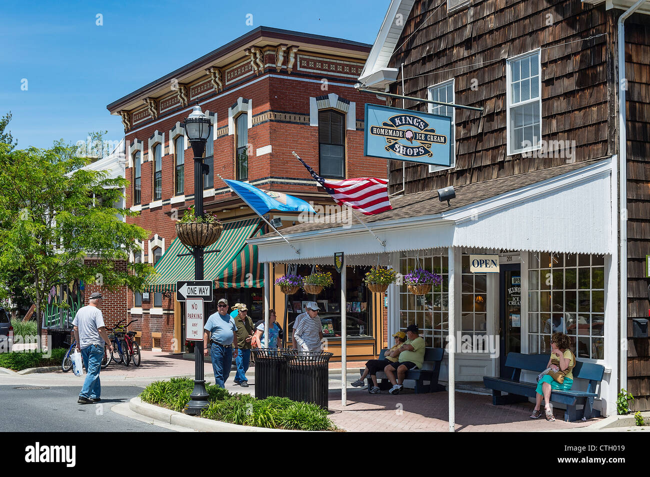 Quaint Historic Town Of Lewes Delaware Usa Stock Photo