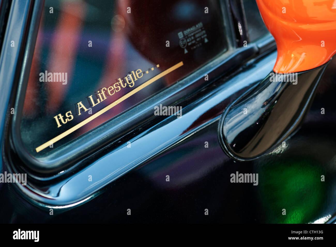 Its a lifestyle window sticker on a vw beetle car