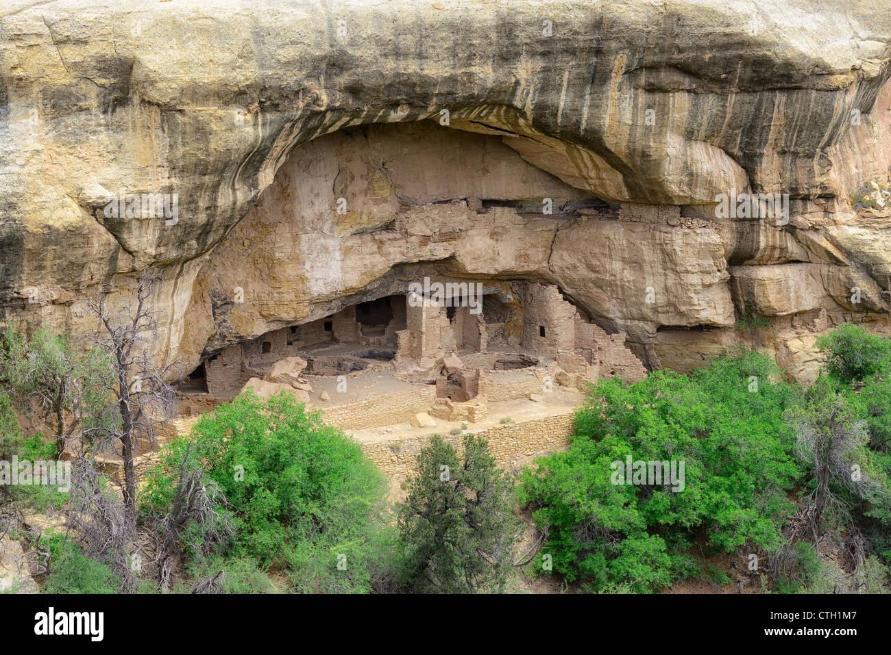 Oak Tree House, Native American Cliff Dwellings, Mesa Verde National Park, Colorado, USA - Stock Image