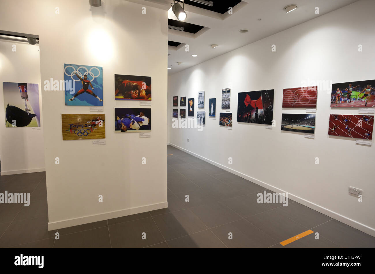 Getty Images Gallery, Olympic Games Through The Ages photography exhibition, Westfield Stratford City, London, England, - Stock Image