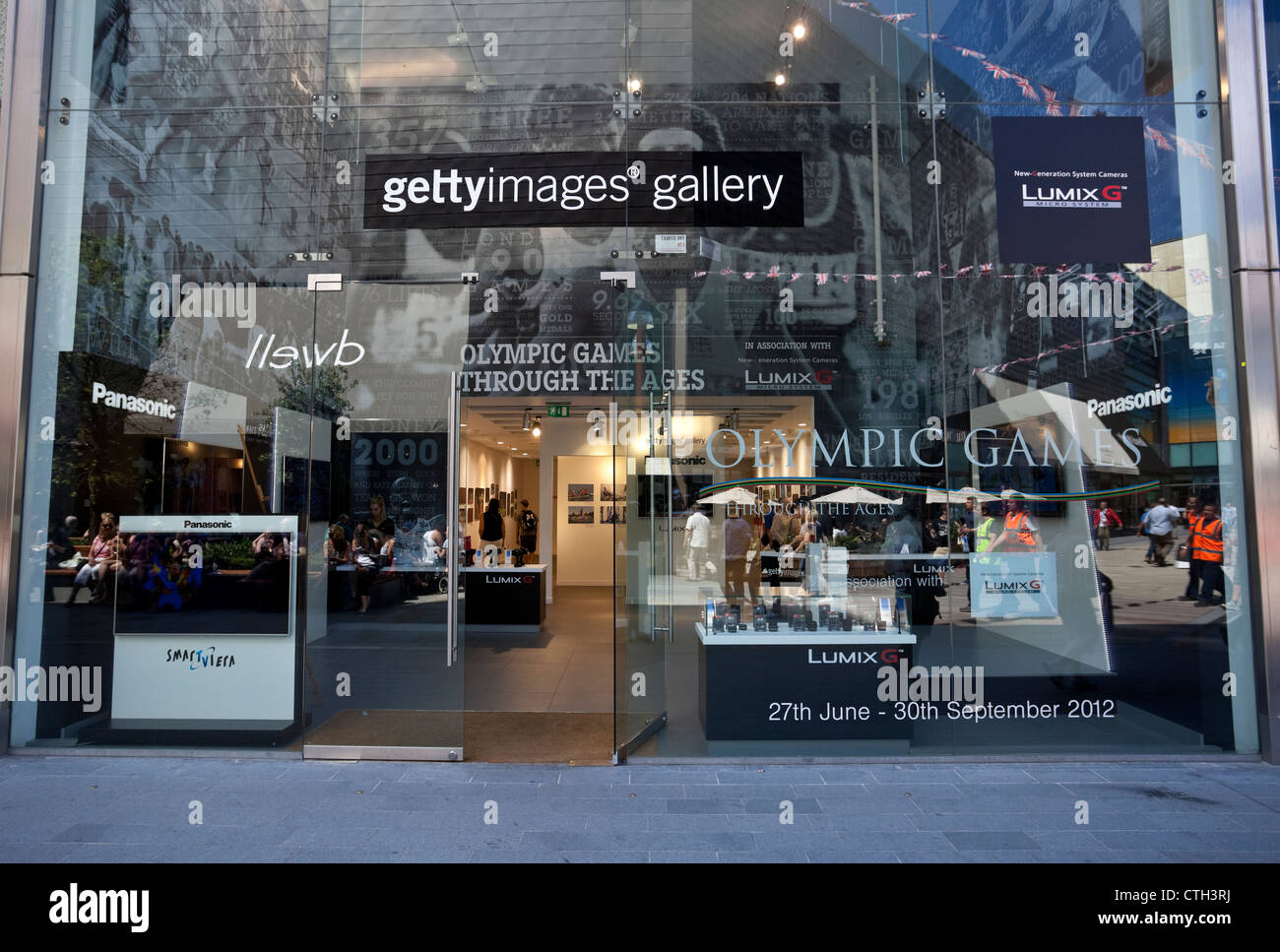 Getty Images Gallery, Olympic Games Through The Ages exhibition, Westfield Stratford City Shopping Centre, London, - Stock Image