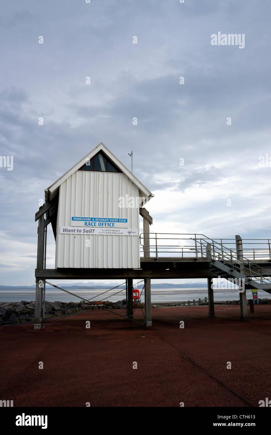 Morecambe & Heysham Yacht Club 'Race Office' on Morecambe Seafront, Lancashire, England. Stock Photo