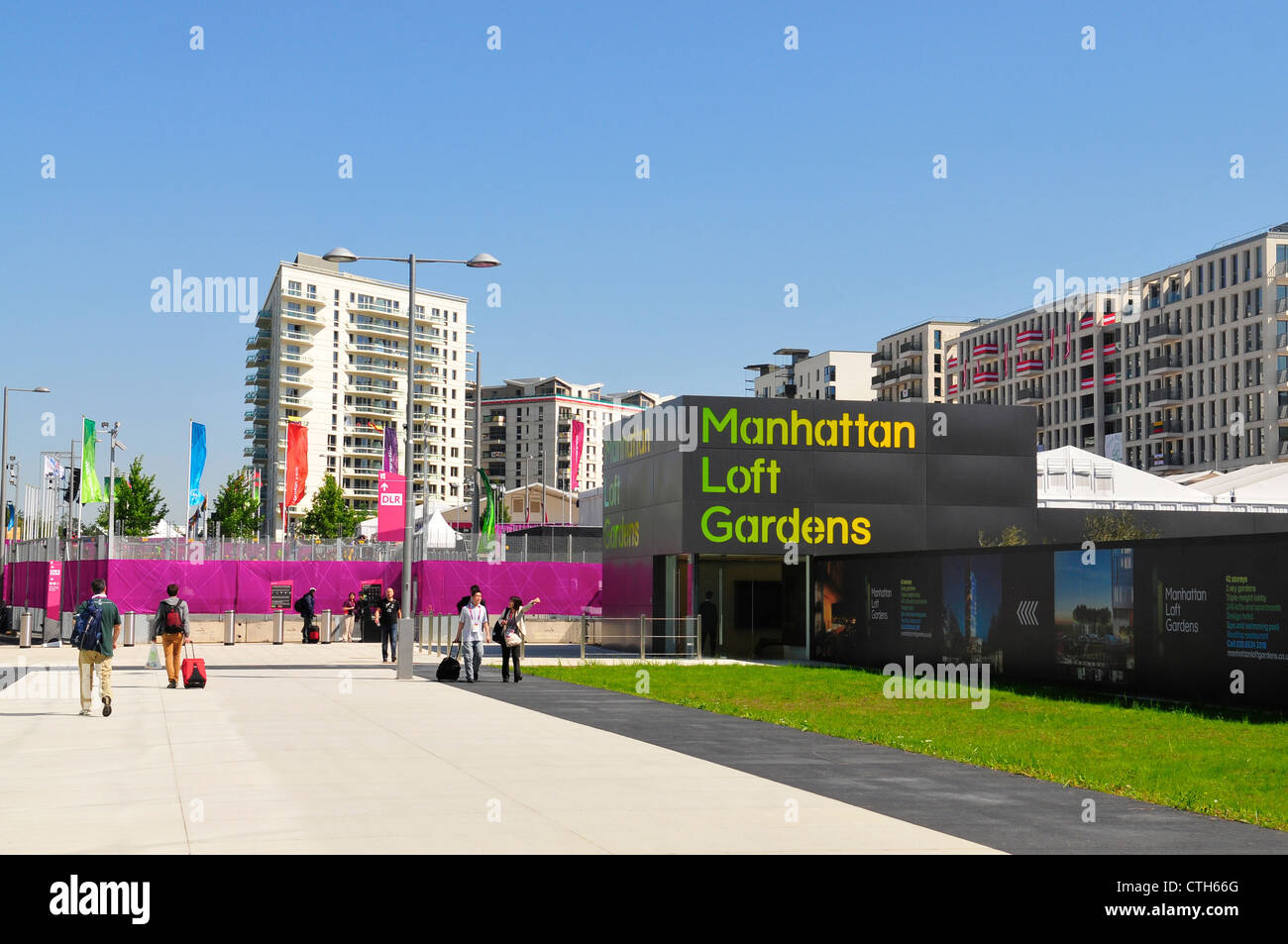 Athletes Village at the London 2012 Olympics, Stratford, London - Stock Image