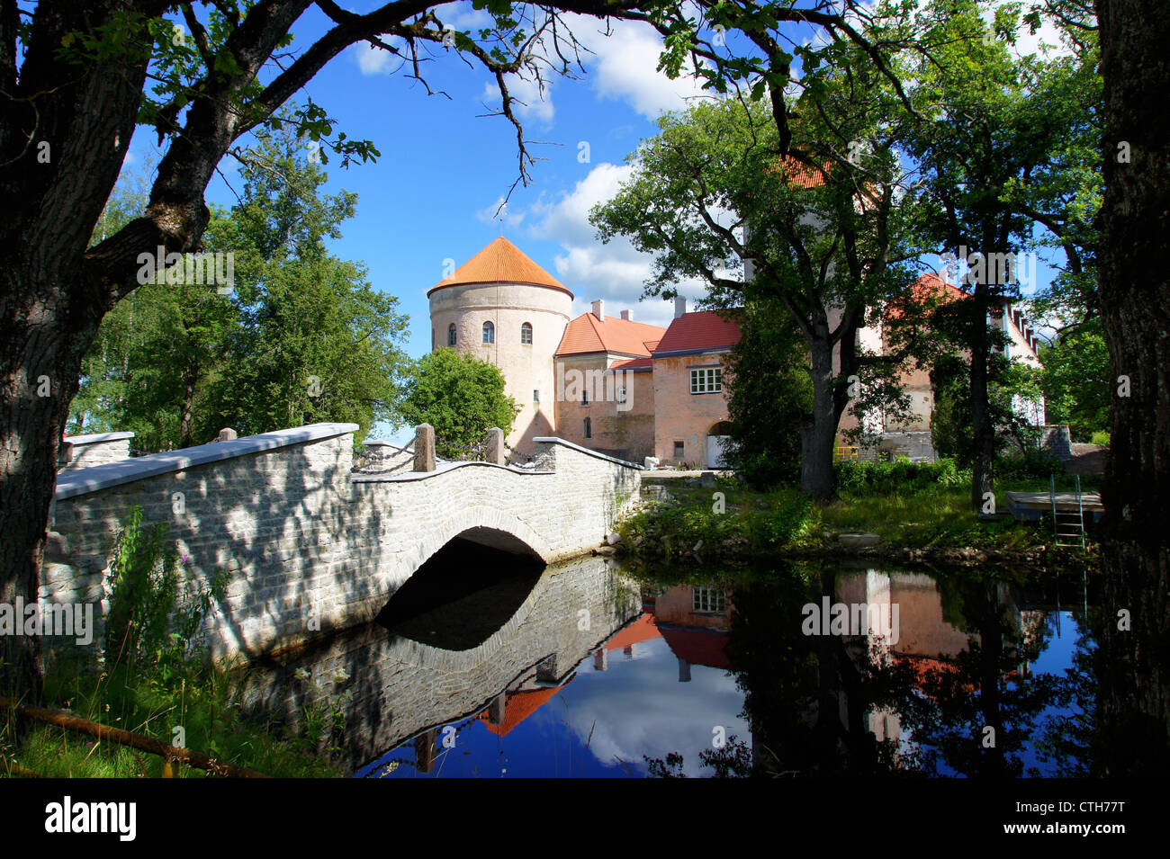 The ancient castle in the east of Estonia. 15 century - Stock Image