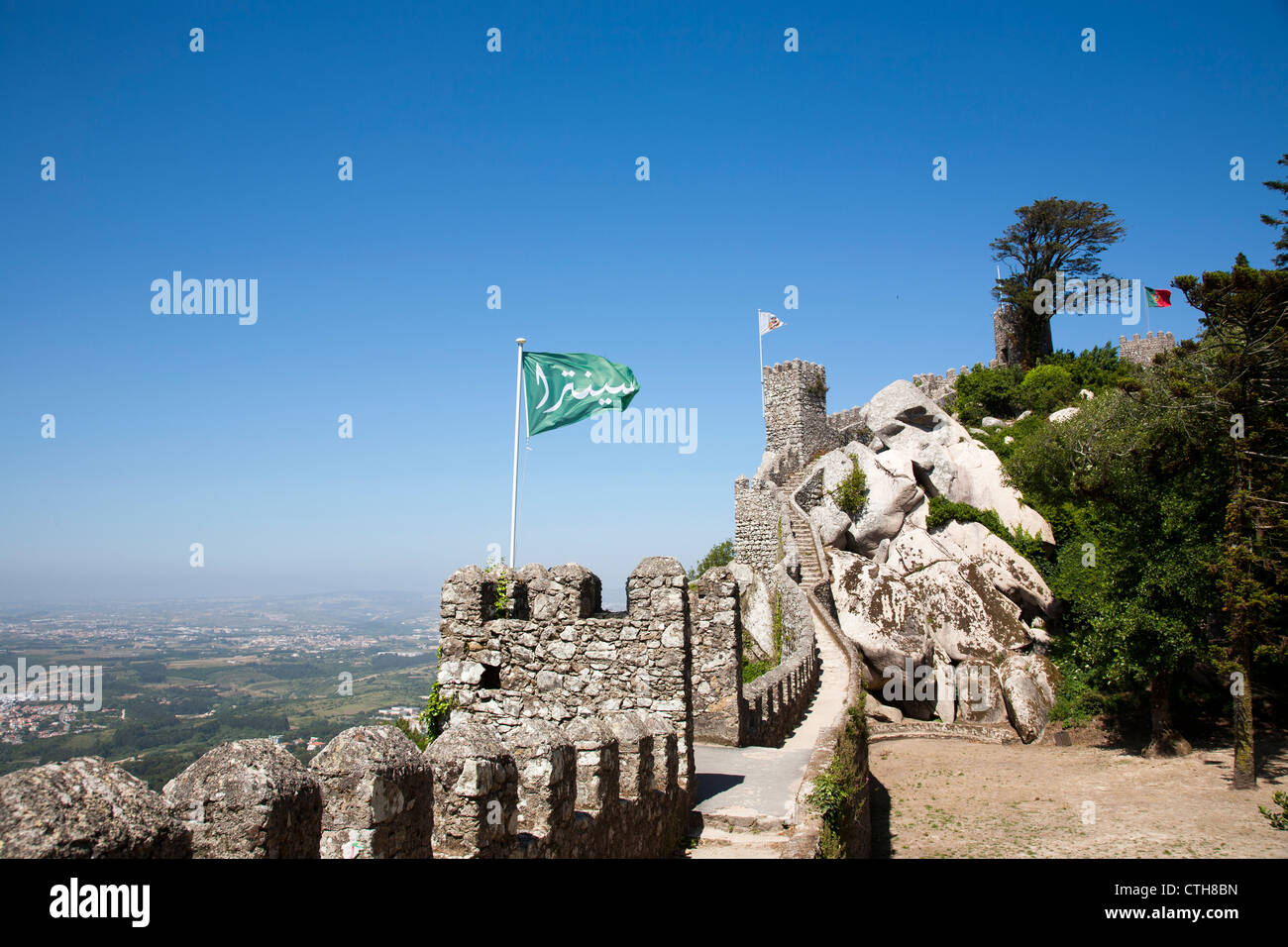 Castelo Dos Mouros in Sintra - Portugal - Stock Image