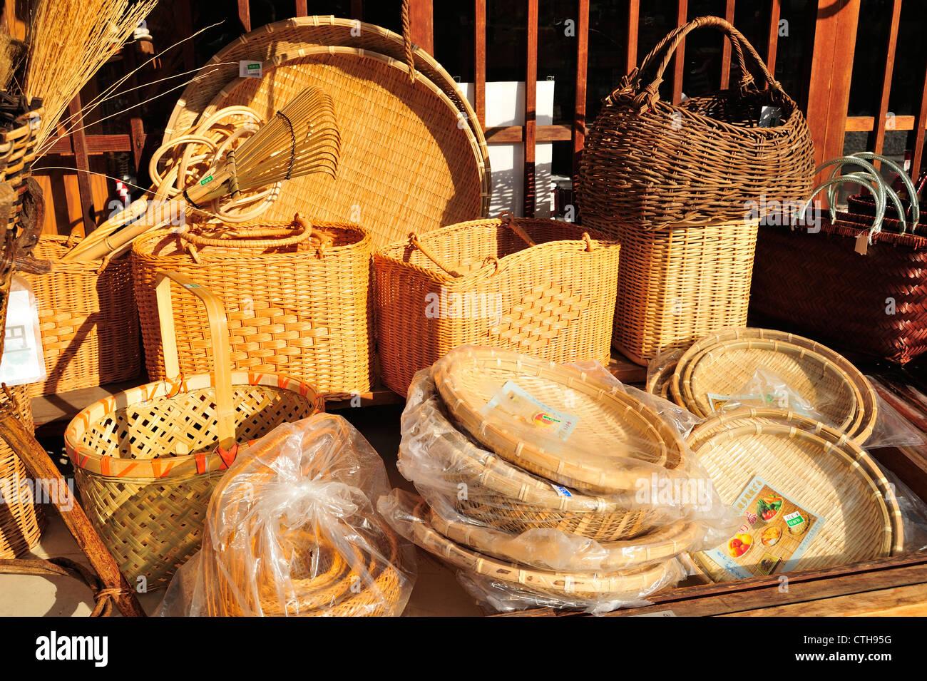 Souvenirs, Shirakawa-go, Gifu Prefecture, japan - Stock Image