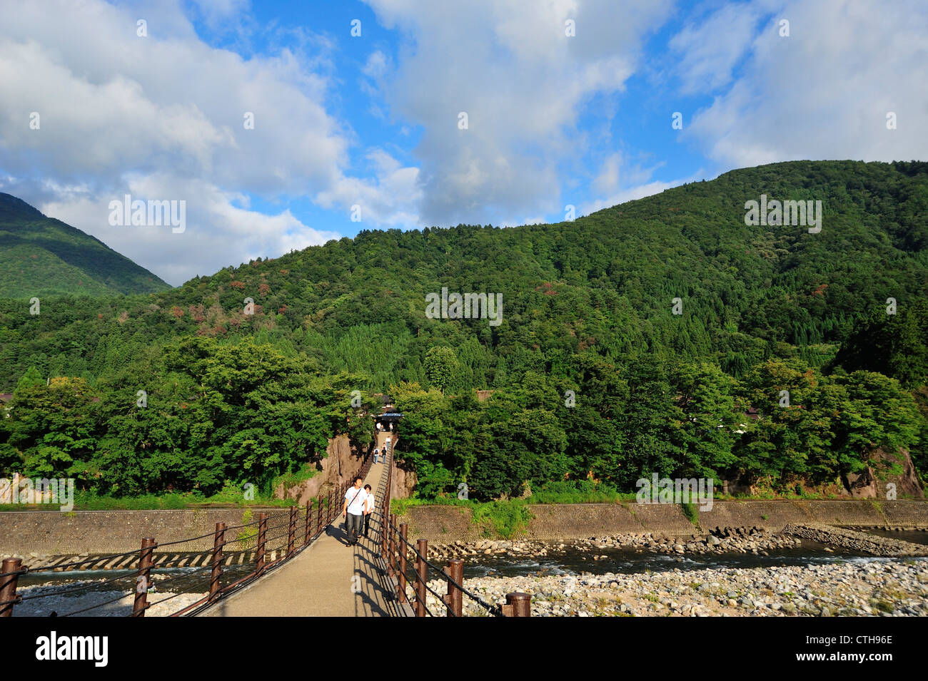 Deai-Bashi, Shirakawa-go, Gifu Prefecture, Japan Stock Photo