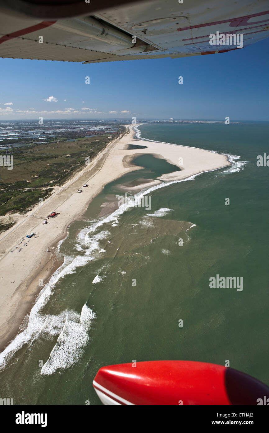 The Netherlands, Ter Heijde, The Sand Motor, Aerial. - Stock Image