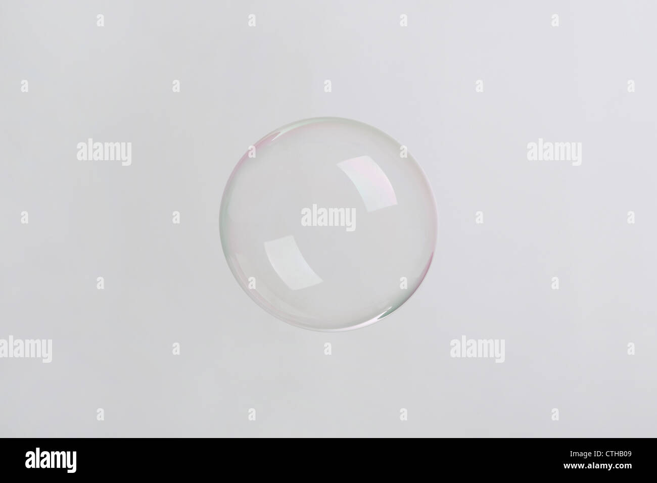 soap bubble on neutral background - Stock Image