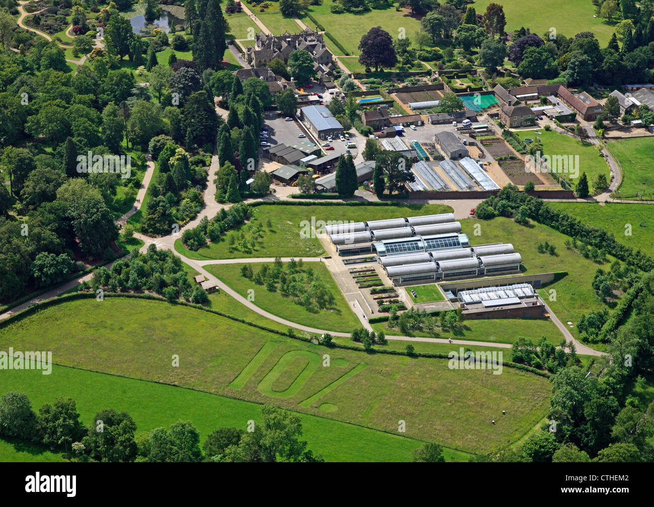 aerial view of the Millennium Seedbank at Wakehurst Place, Sussex - Stock Image