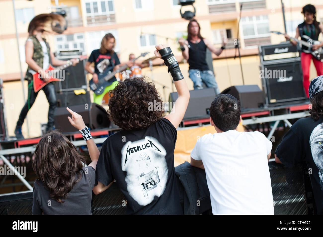 Metrabate performs during Cebollinazo Rock - Stock Image