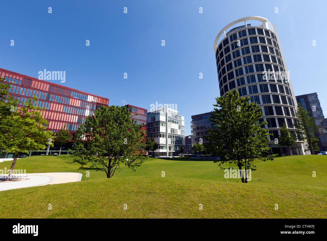 Modern office buildings at Hamburg HafenCity - Stock Image