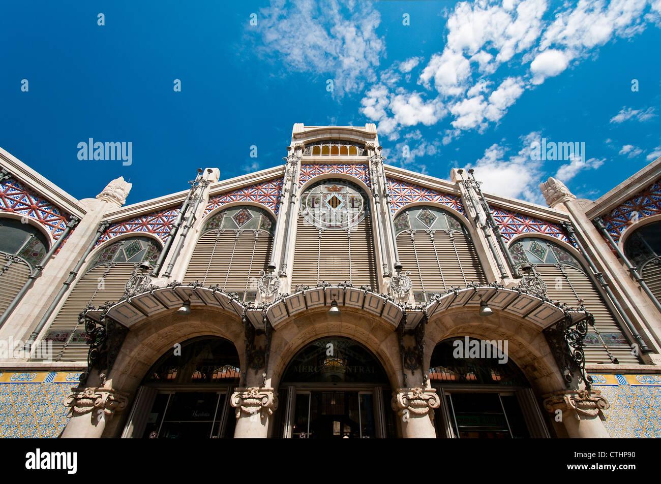 Mercado Central (Central Market), Valencia, Spain - Stock Image