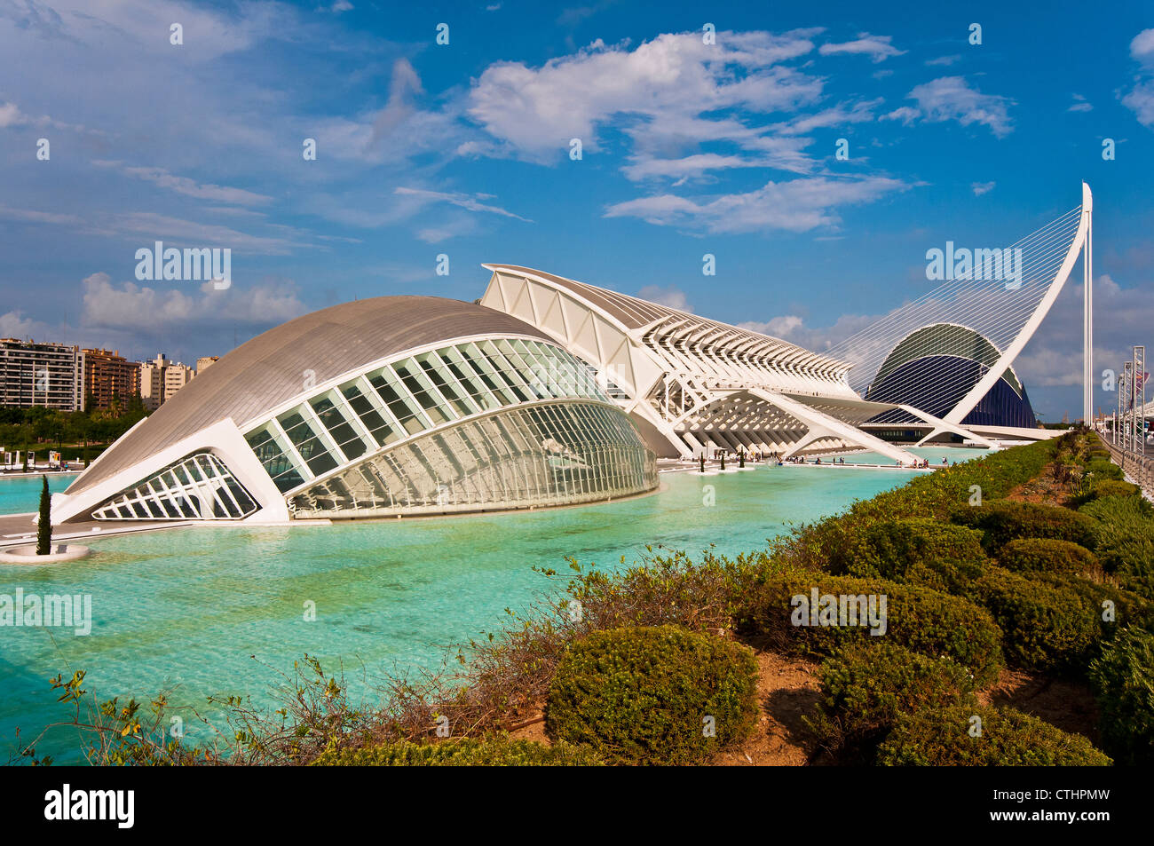 Ciudad de las Artes y las Ciencias (City of Arts and Sciences), Valencia, Spain - Stock Image