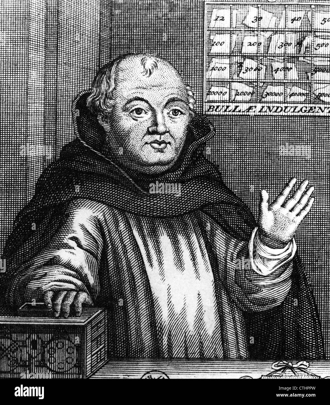 JOHANN TETZEL (1465-1519) German Dominican preacher responsible for the sale of indulgences in Germany - Stock Image