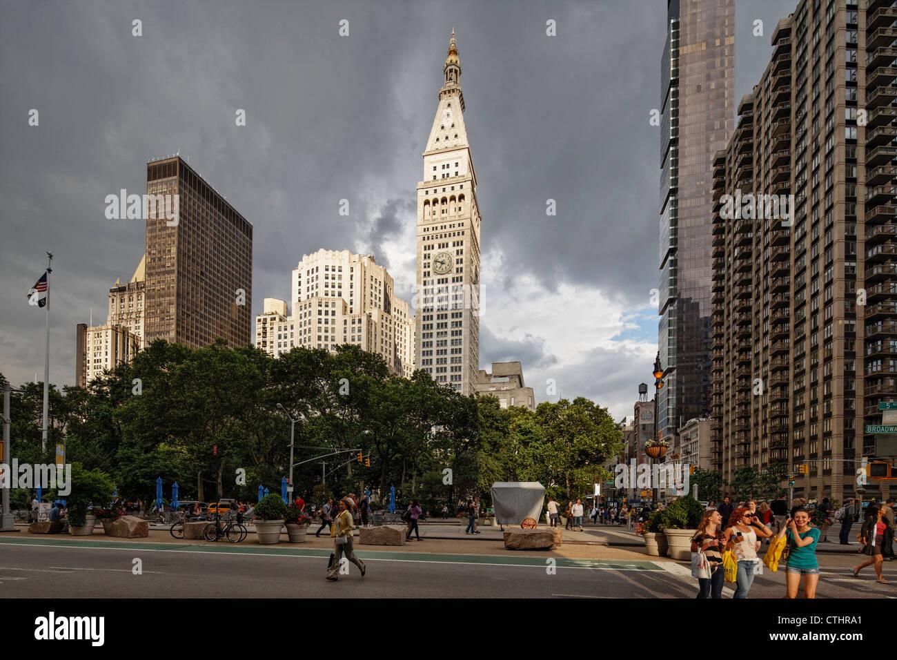 Metropolitan Life buidling, Madison Square Park, 5th Av., New York - Stock Image