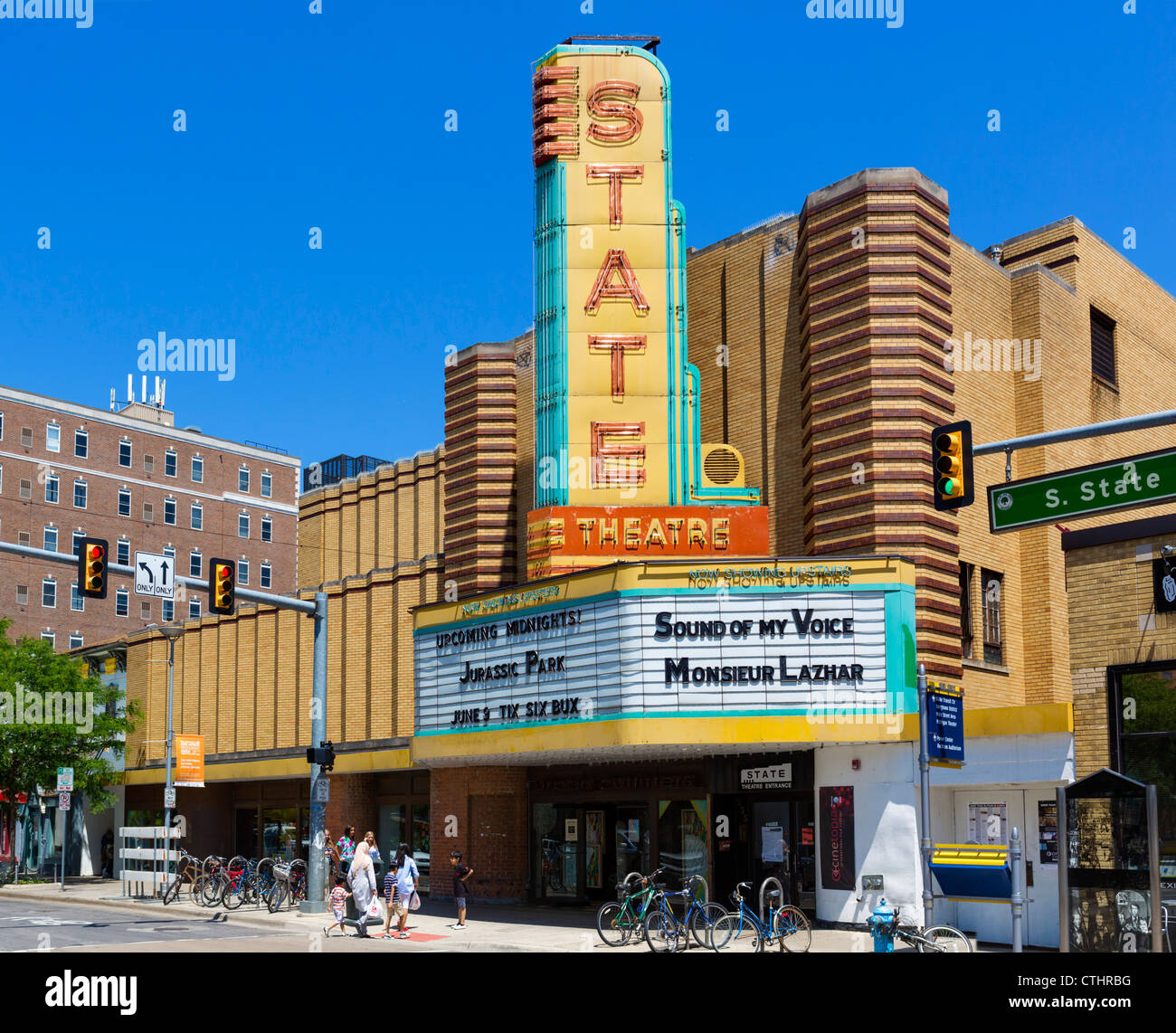 State Theater on State Street in downtown Ann Arbor, Michigan, USA - Stock Image
