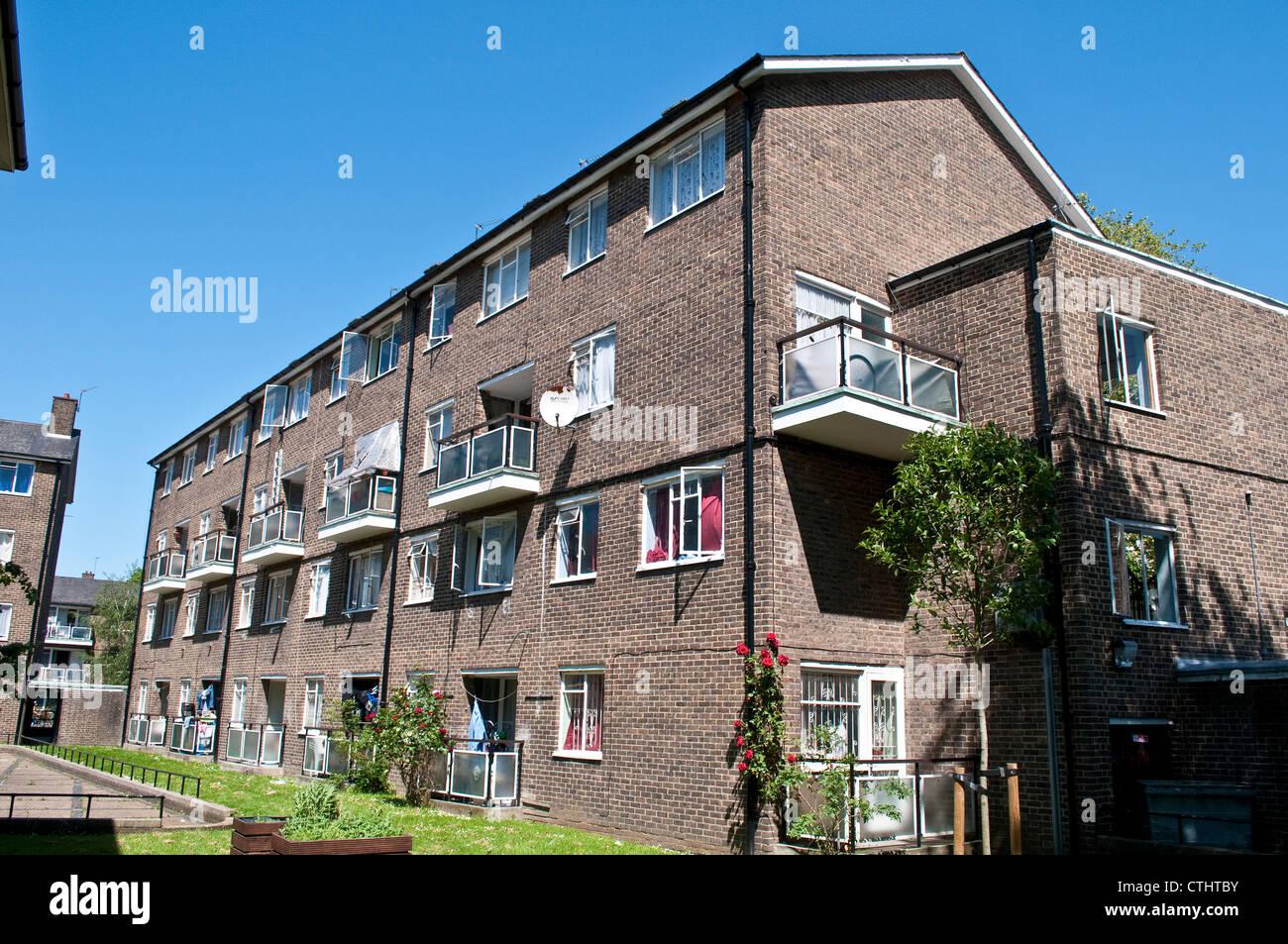 Council estate, Southey Road, Brixton, SW9, London, UK - Stock Image