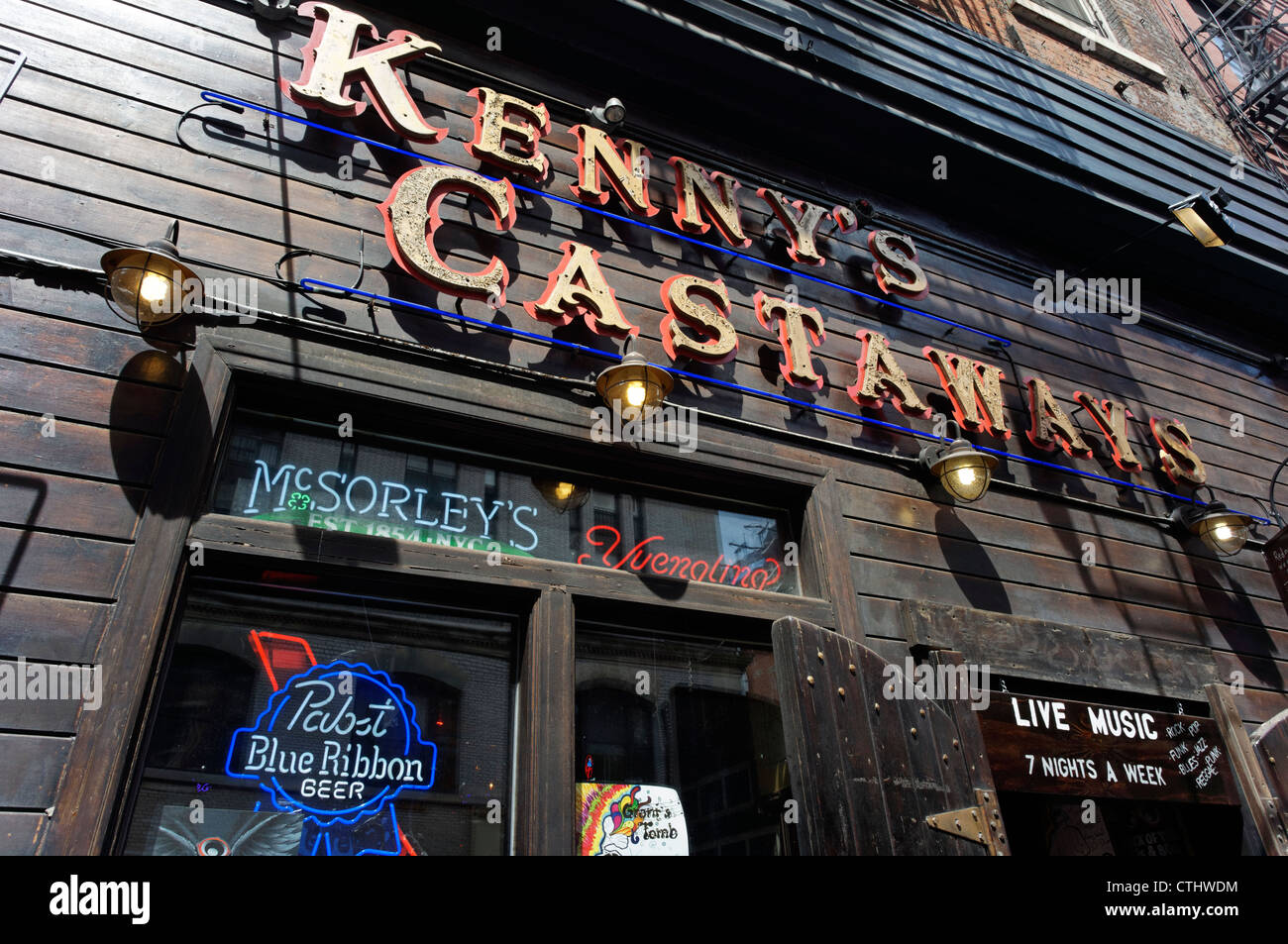 Kenny´s Casteaway Pub with live music in Greenwich Village, New York, USA, - Stock Image