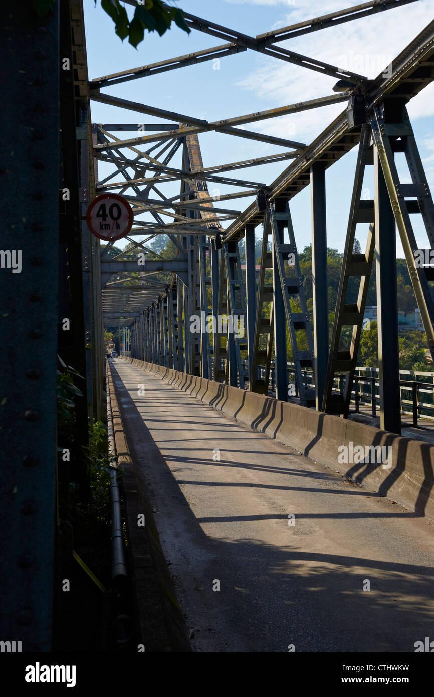 Old steel girder bridge Stock Photo