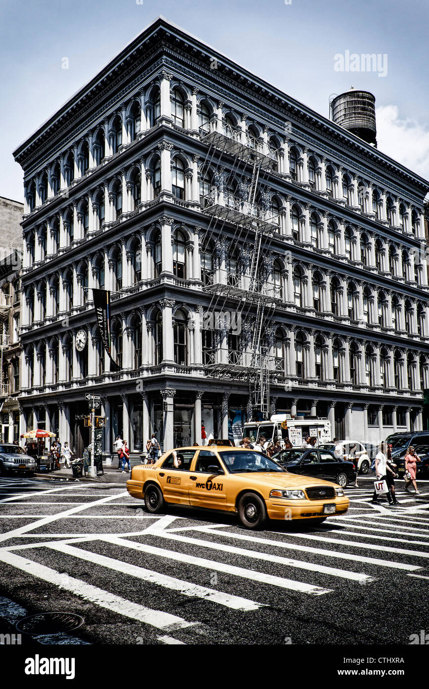 E.V. Haughwout building, Cast Iron District, Broadway, Cab, Soho, New York - Stock Image