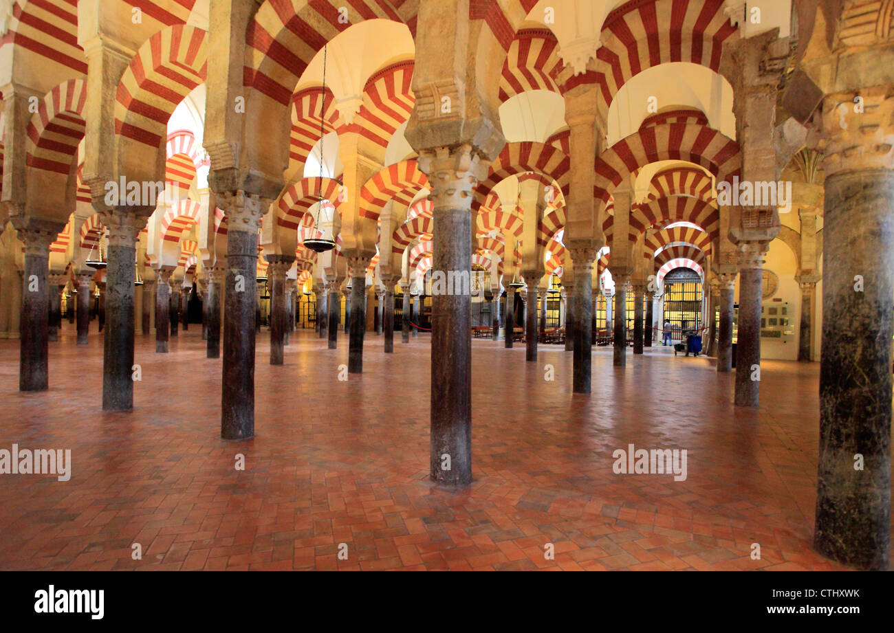 Spain; Andalusia; Cordoba, Mezquita, Cathedral, interior, - Stock Image