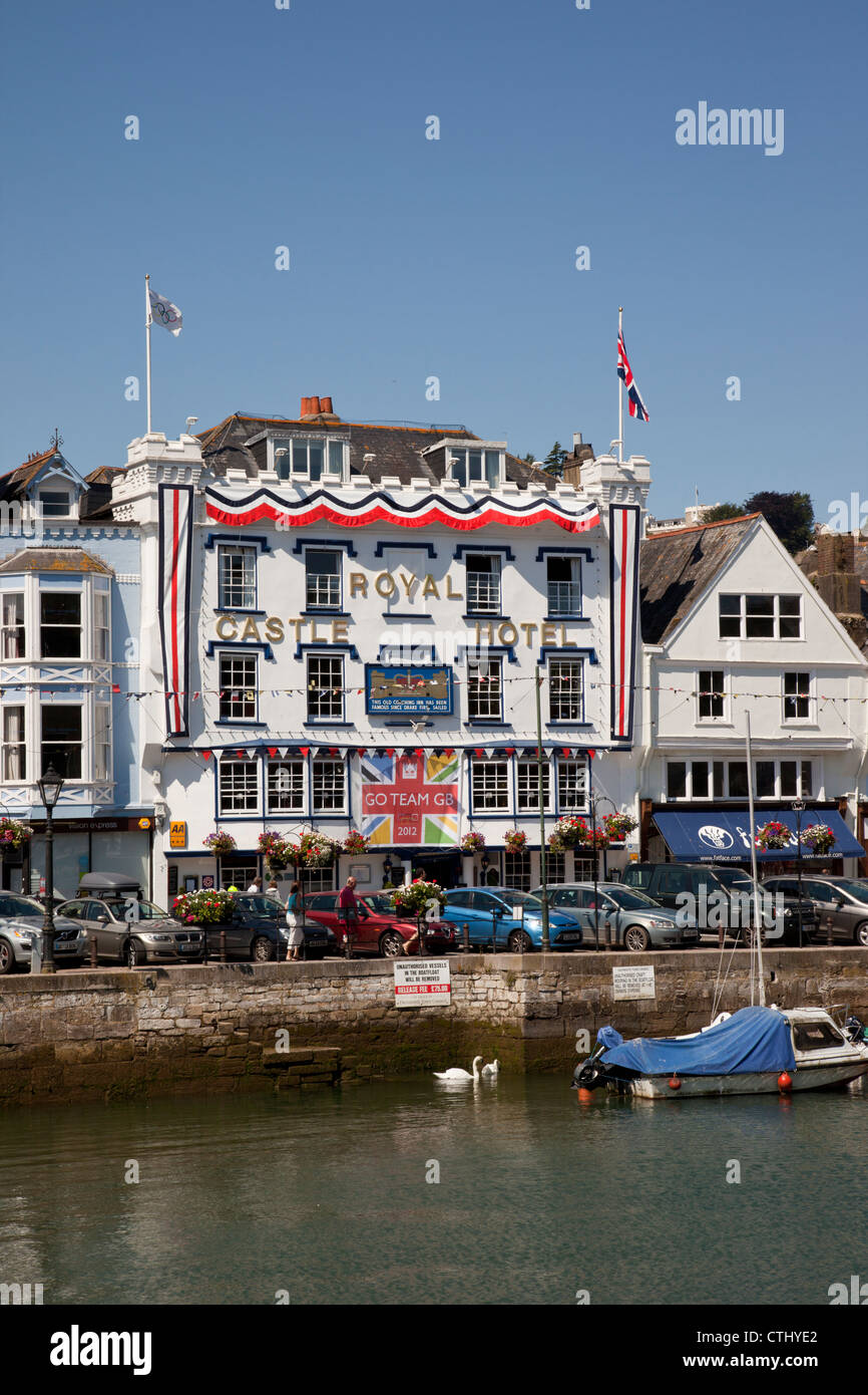 The Royal Castle Hotel, Dartmouth, Devon, England Stock Photo