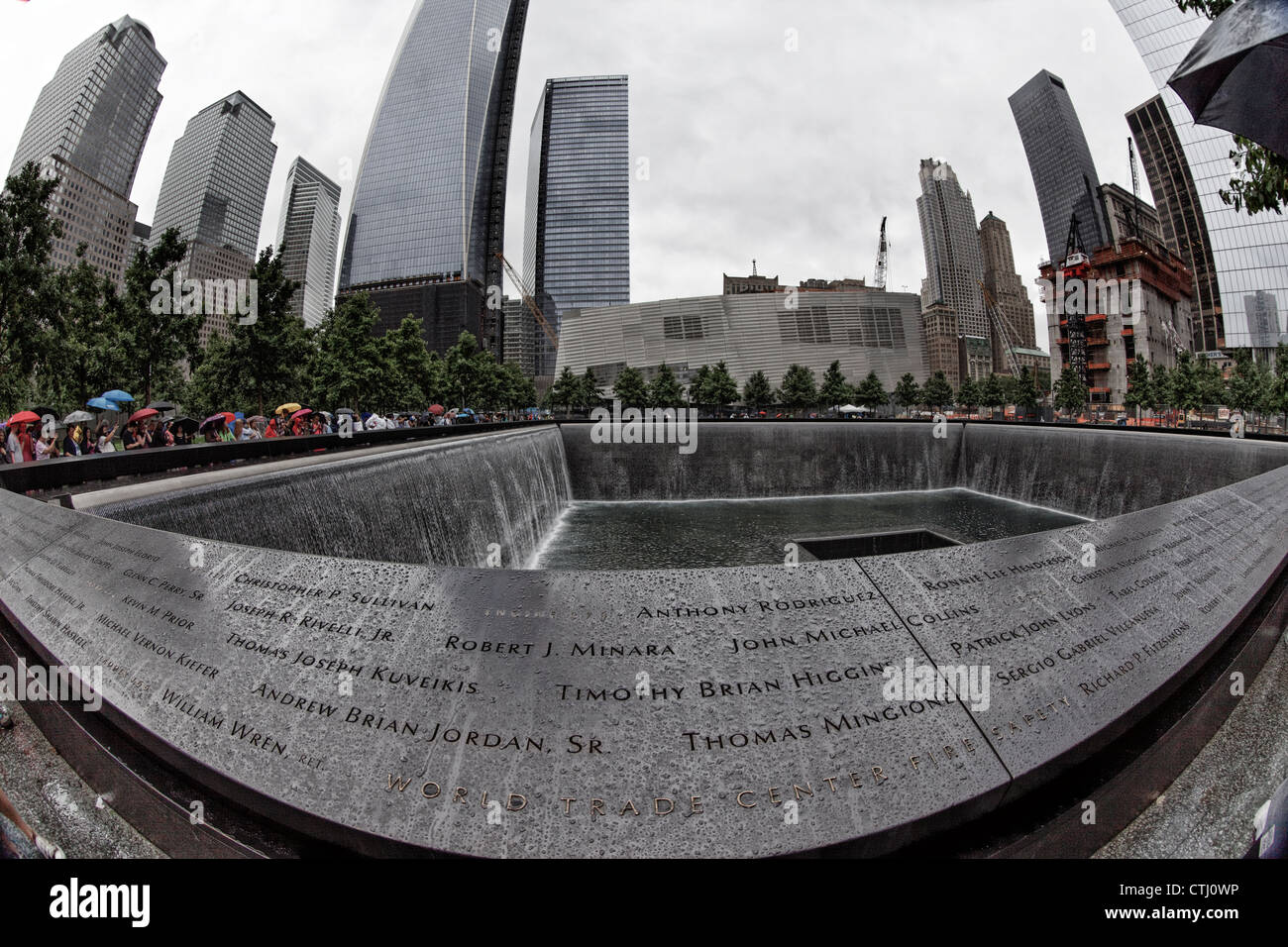 911 World Trade Center Memorial , Ground Zero, Manhattan, New York - Stock Image